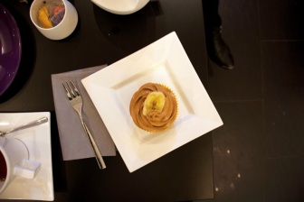 le cupcake en question: dulce de leche/banane